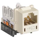 GigaBase Plus CAT5e Jacks, Universal Wiring, 25-Pack, Office White