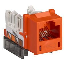 GigaBase  CAT5e Jacks, Universal Wiring, 25-Pack, Orange