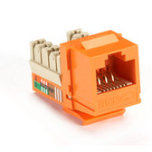 GigaBase Plus CAT5e Jacks, Universal Wiring, 25-Pack, Orange