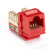 GigaBase Plus CAT5e Jacks, Universal Wiring, 25-Pack, Red