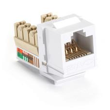 GigaBase Plus CAT5e Jacks, Universal Wiring, 25-Pack, White