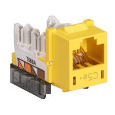 GigaBase  CAT5e Jack, Universal Wiring, Single-Pack, Yellow