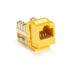 GigaBase Plus CAT5e Jacks, Universal Wiring, 25-Pack, Yellow