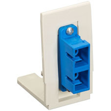 Advanced Multimedia Outlet Bracket, Single, with 1 SC Duplex Adapter (Mounted)