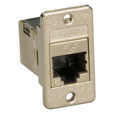 CAT6 RJ-45 Panel-Mount Coupler, Shielded, Silver