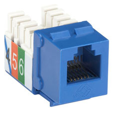 USOC RJ-11 Jack, Blue, Single-Pack