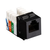 USOC RJ-11 Jack, Black, Single-Pack