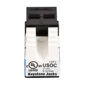 USOC RJ-11 Jack, Black, 25-Pack