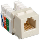 USOC RJ-11 Jacks, Office White, 25-Pack