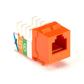 USOC RJ-11 Jack, Orange, 25-Pack