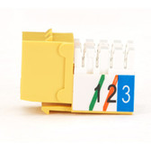 USOC RJ-11 Jack, Yellow, Single-Pack