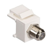 GigaStation2 Snap Fitting, F-Connector, Female/Female, White