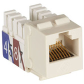 CAT3 Jack, Office White, Single-Pack