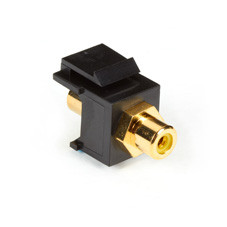 RCA Connector, Passthrough, Female/Female, Yellow