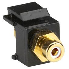 RCA Connector, Passthrough, Female/Female, White