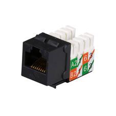 GigaTrue2 CAT6 Jacks, Universal Wiring, Component Level, 25-Pack, Black