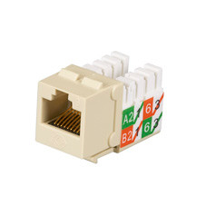 GigaTrue2 CAT6 Jacks, Universal Wiring, Component Level, 25-Pack, Ivory