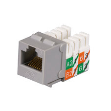 GigaTrue2 CAT6 Jacks, Universal Wiring, Component Level, 25-Pack, Gray