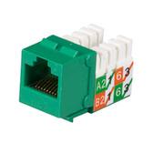 GigaTrue2 CAT6 Jack, Universal Wiring, Single-Pack, Green