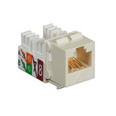 GigaTrue2 CAT6 Jack, Universal Wiring, Component Level, Single-Pack, Off White