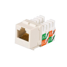 GigaTrue2 CAT6 Jacks, Universal Wiring, Component Level, 25-Pack, Off White