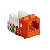 GigaTrue2 CAT6 Jack, Universal Wiring, Component Level, Single-Pack, Orange