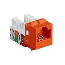 GigaTrue2 CAT6 Jack, Universal Wiring, Component Level, Single-Pack, Orange
