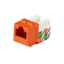 GigaTrue2 CAT6 Jacks, Universal Wiring, Component Level, 25-Pack, Orange