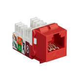 GigaTrue2 CAT6 Jack, Universal Wiring, Component Level, Single-Pack, Red