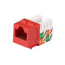 GigaTrue2 CAT6 Jacks, Universal Wiring, Component Level, 25-Pack, Red