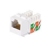 GigaTrue2 CAT6 Jack, Universal Wiring, Component Level, Single-Pack, White