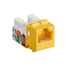 GigaTrue2 CAT6 Jack, Universal Wiring, Component Level, Single-Pack, Yellow