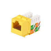 GigaTrue2 CAT6 Jacks, Universal Wiring, Component Level, 25-Pack, Yellow