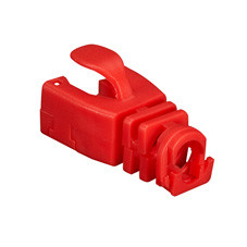 Snap-On Patch Cable Boot, 50-Pack, Red
