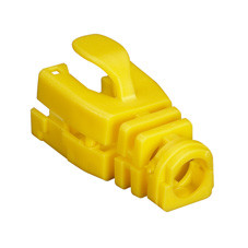 Snap-On Patch Cable Boot, 50-Pack, Yellow