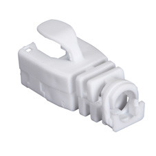 Snap-On Patch Cable Boot, 50-Pack, White