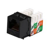GigaBase2 CAT5e Jack, Universal Wiring, Black, 25-Pack