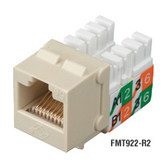 GigaBase2 CAT5e Jack, Universal Wiring, Ivory, Single-Pack