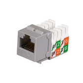 GigaBase2 CAT5e Jack, Universal Wiring, Gray, Single-Pack