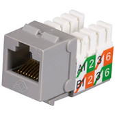 GigaBase2 CAT5e Jack with Universal Wiring, Gray, 25-Pack