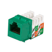 GigaBase2 CAT5e Jack, Universal Wiring, Green, Single-Pack