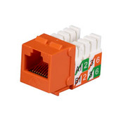 GigaBase2 CAT5e Jack, Universal Wiring, Orange, Single-Pack