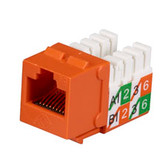 GigaBase2 CAT5e Jack, Universal Wiring, Orange, 25-Pack
