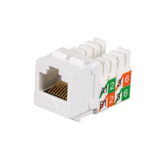 GigaBase2 CAT5e Jack, Universal Wiring, White, Single-Pack