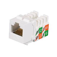 GigaBase2 CAT5e Jack, Universal Wiring, White, 25-Pack