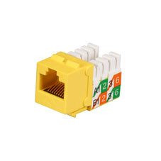 GigaBase2 CAT5e Jack with Universal Wiring, Yellow, 25-Pack
