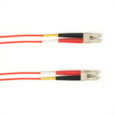 Multimode, 10-GbE 50-Micron OM3, Multicolored Fiber Optic Patch Cable, Plenum, LC MT-RJ, Red, 1-m (3.2-ft)
