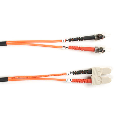 62.5-Micron Multimode Value Line Patch Cable, ST SC, 5-m (16.4-ft.)