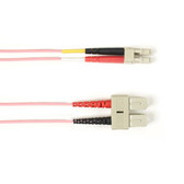 Multimode, 10-GbE 50-Micron OM3, Multicolored Fiber Optic Patch Cable, Plenum, ST MT-RJ, Pink, 1-m (3.2-ft)
