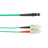Multimode, 10-GbE 50-Micron OM3, Multicolored Fiber Optic Patch Cable, Plenum, SC MT-RJ, Green, 1-m (3.2-ft)